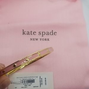 New! Kate Spade pink and gold bangle